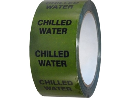 Chilled water pipeline identification tape.
