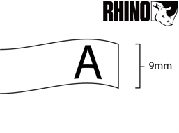 Dymo Rhino vinyl tape (9mm)