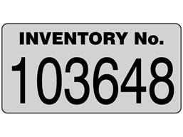 Assetmark jumbo serial number label, 60mm x 120mm