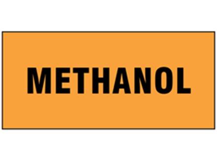 Methanol pipeline identification tape.