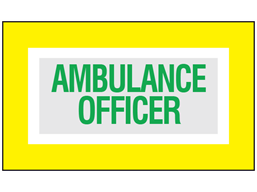 Ambulance officer safety armband