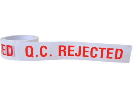 QC Rejected tape