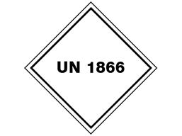 UN 1866 (Resin solution, flammable) label.