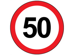 50mph speed limit sign