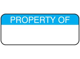 Property of maintenance label.