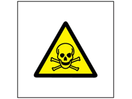 Caution toxic hazard symbol safety sign.