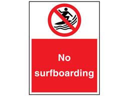 No surfboarding sign.