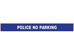 Police no parking barrier tape