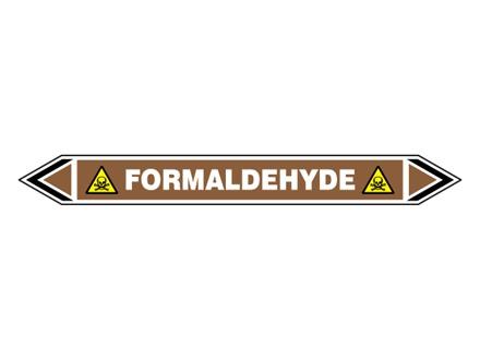 Formaldehyde flow marker label.