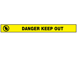 Danger, keep out barrier tape