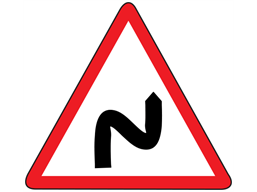 Double bend first to the right sign