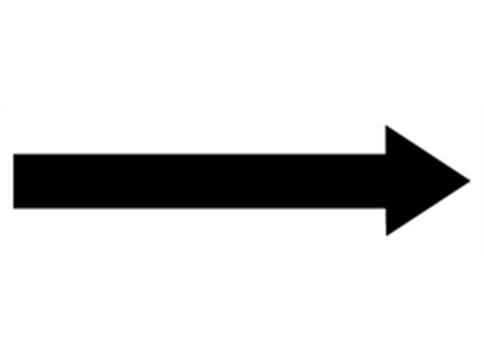 Horizontal Black Arrow Labels From Label Source