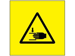 Finger Trap hazard symbol labels.