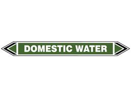 Domestic water flow marker label.