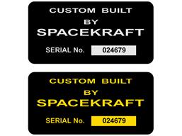 Metallic finish label, 75mm x 100mm