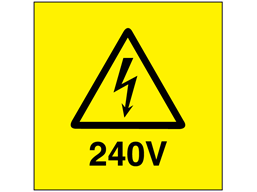 240V Electrical warning label