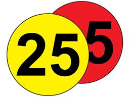 Aisle floor markers, 25