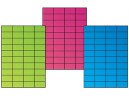Fluorescent paper labels, 29.7mm x 52.5mm