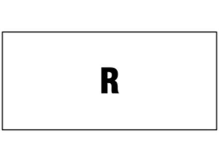 R pipeline identification tape.