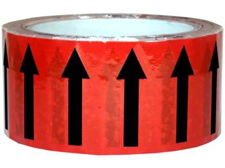 Flow indication tape for fire services