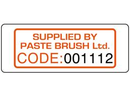 Assetmark+ serial number label (logo / full design), 19mm x 50mm