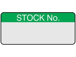 Stock number aluminium foil labels.