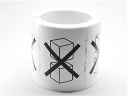 Do not stack packaging symbol label