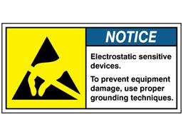 Electrostatic sensitive devices label