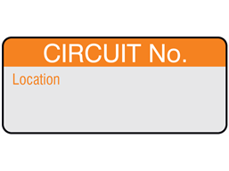 Circuit number and location aluminium foil labels.