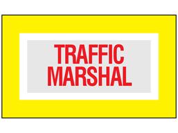 Traffic marshal safety armband