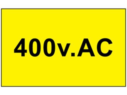 Danger 400 v AC