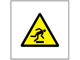 Risk of tripping symbol safety sign.
