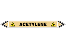 Acetylene flow marker label.