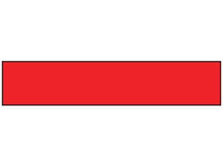 Red plain barrier tape.