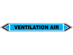Ventilation air flow marker label.