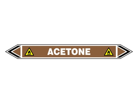 Acetone flow marker label.