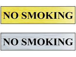 No smoking public area sign