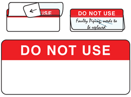 Do not use write and seal labels.