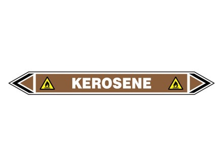Kerosene flow marker label.