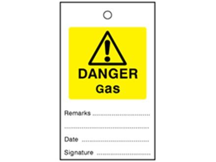 Danger gas tag.