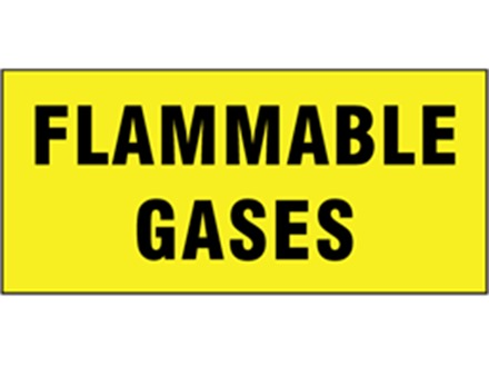 Flammable gases pipeline identification tape.