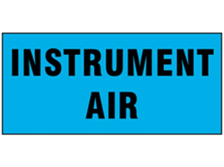Instrument air pipeline identification tape.