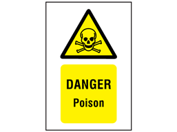 Danger Poison Symbol And Text Safety Sign Ws1650