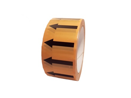 Flow indication tape for electric services and vent ducts