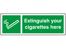 Extinguish your cigarettes here