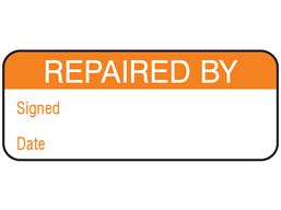 Repaired by maintenance label.