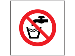 Not drinking water symbol safety sign.