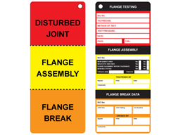 Flange Testing Tag Tvc110 Label Source