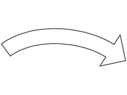 Clockwise white arrow label
