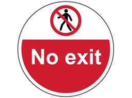 No exit symbol and text floor graphic marker.